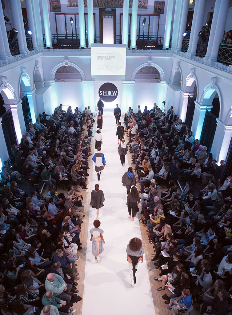 Photo of a fashion show at E C A
