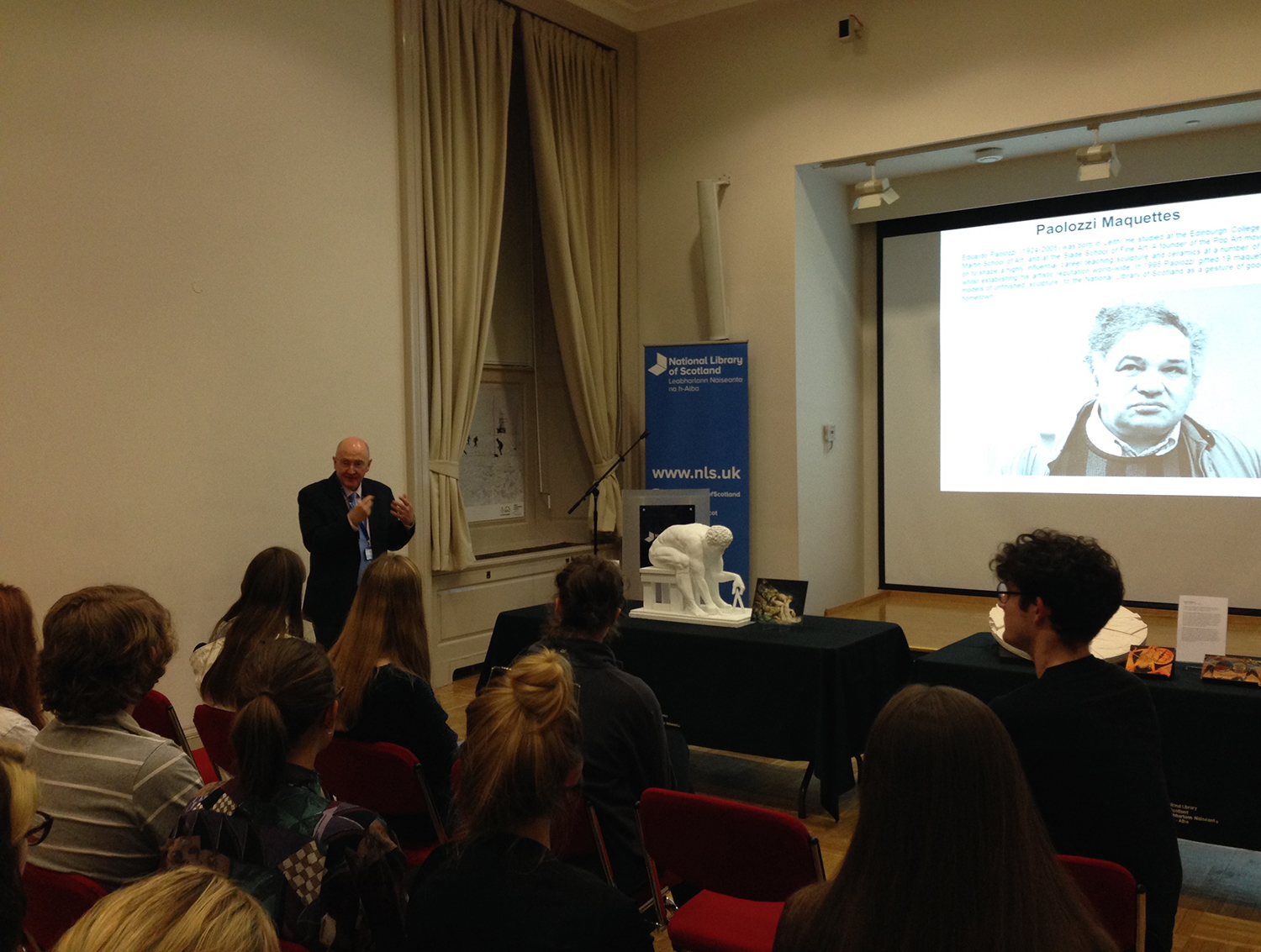 James Mitchell talk at the Scottish National Library