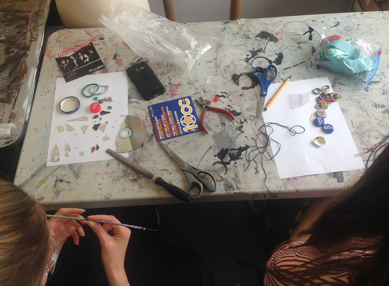 Students' found objects for the This is not Jewellery workshop