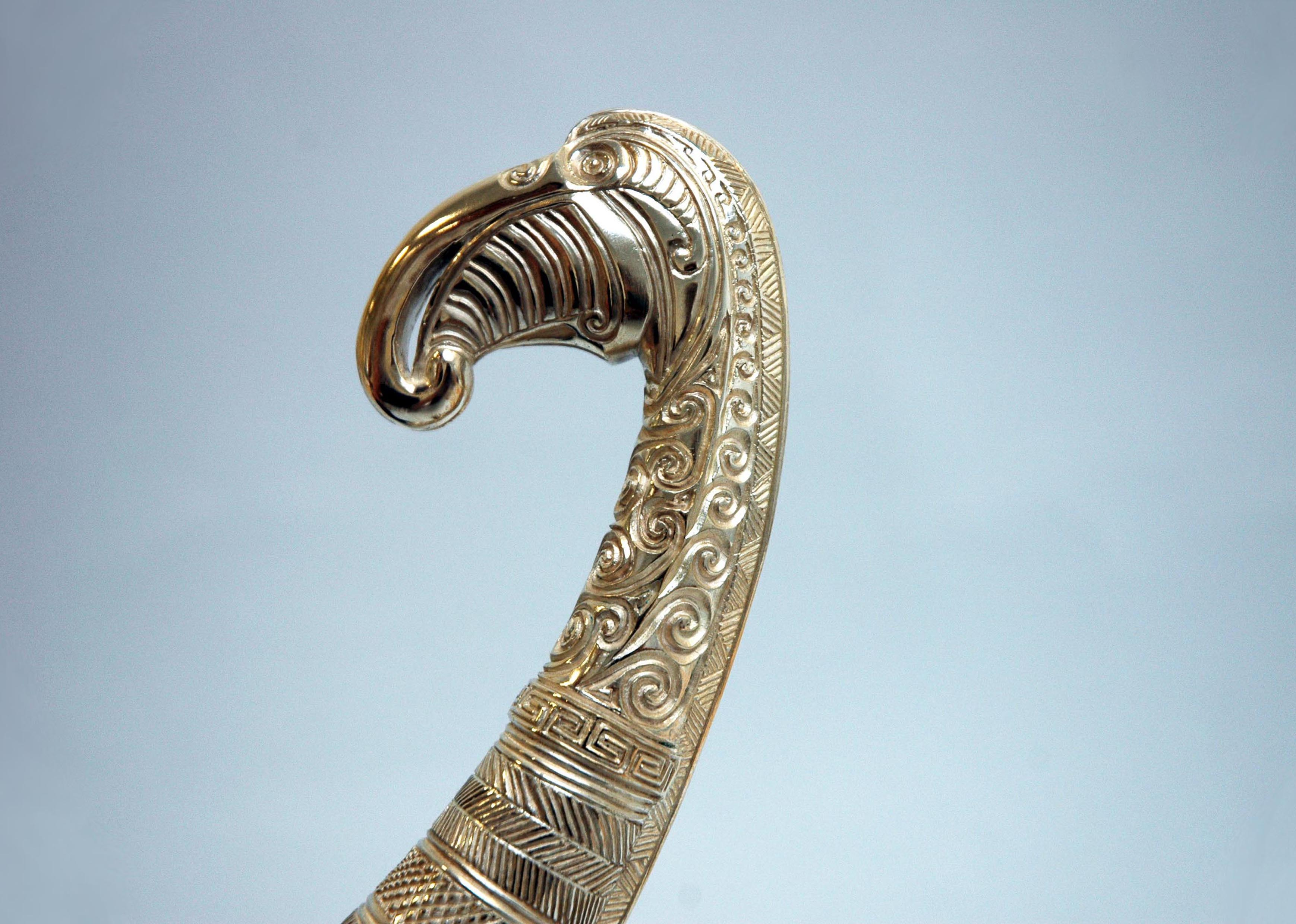 Recreation of an end piece for a Pictish drinking horn in partnership with the National Museum of Scotland