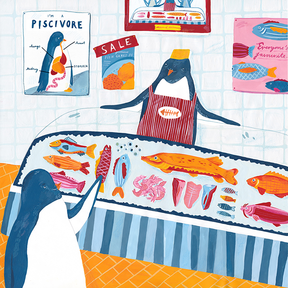 Alice Horn - Penguin at the supermarket, 2019