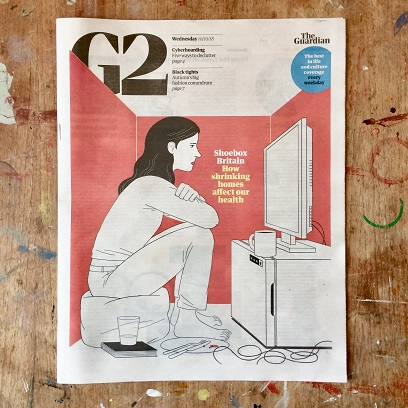 Shrinking home, The Guardian G2 2018 Cover by Micheal Kirkham