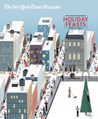 Cover of The New York Times magazine, 2014 holiday special by Michael Kirkham