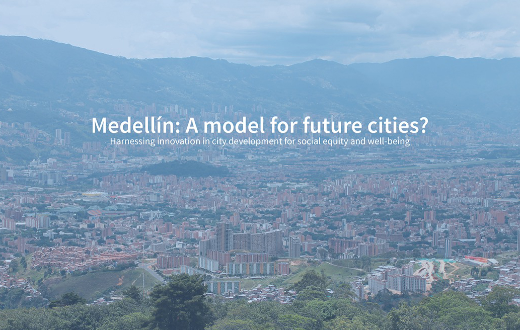 Photo of the city of Medellin in Colombia