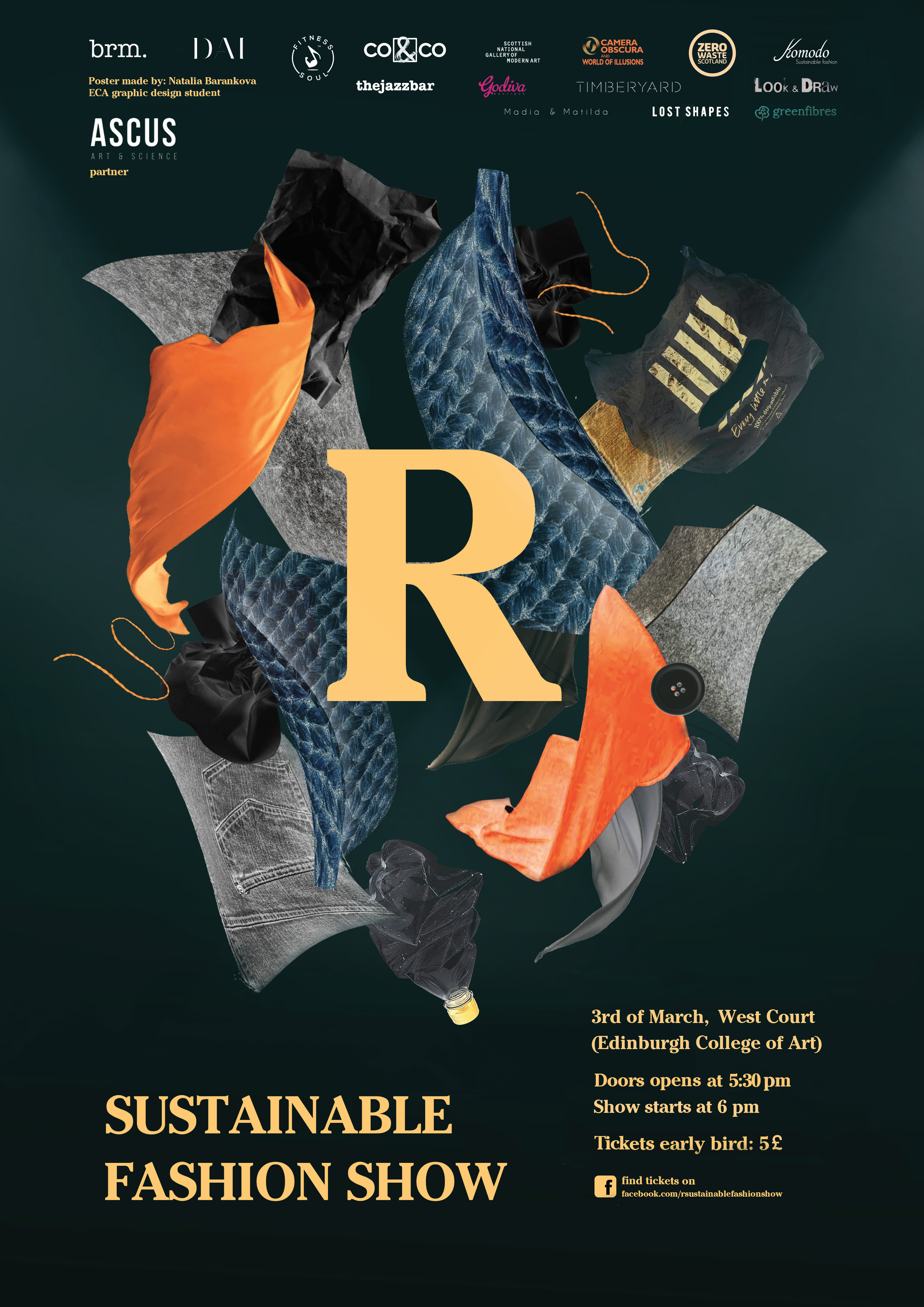 r sustainable fashion show poster