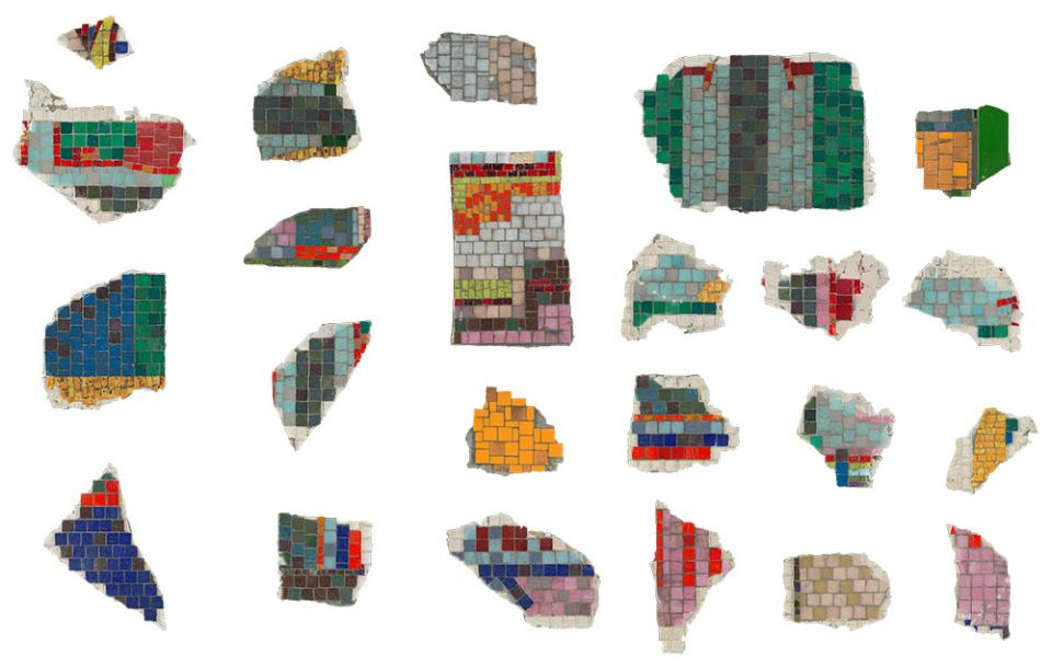 Montage of the Paolozzi mosiac fragments
