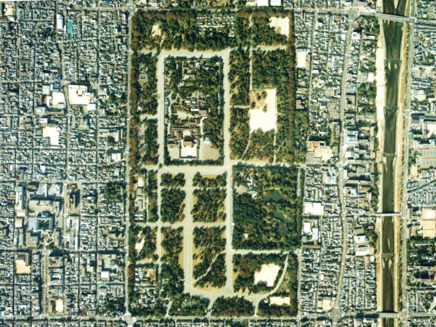 Map of Central Kyoto with Imperial Palace