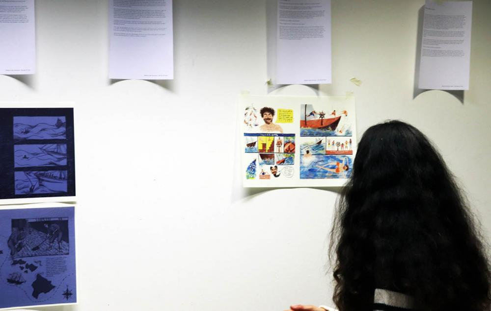 Illustration students present their work