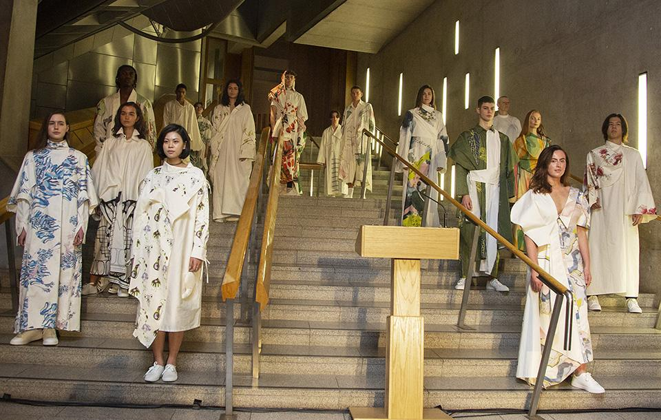 The event in the Scottish Parliament showcased creations by ECA's second year Fashion students