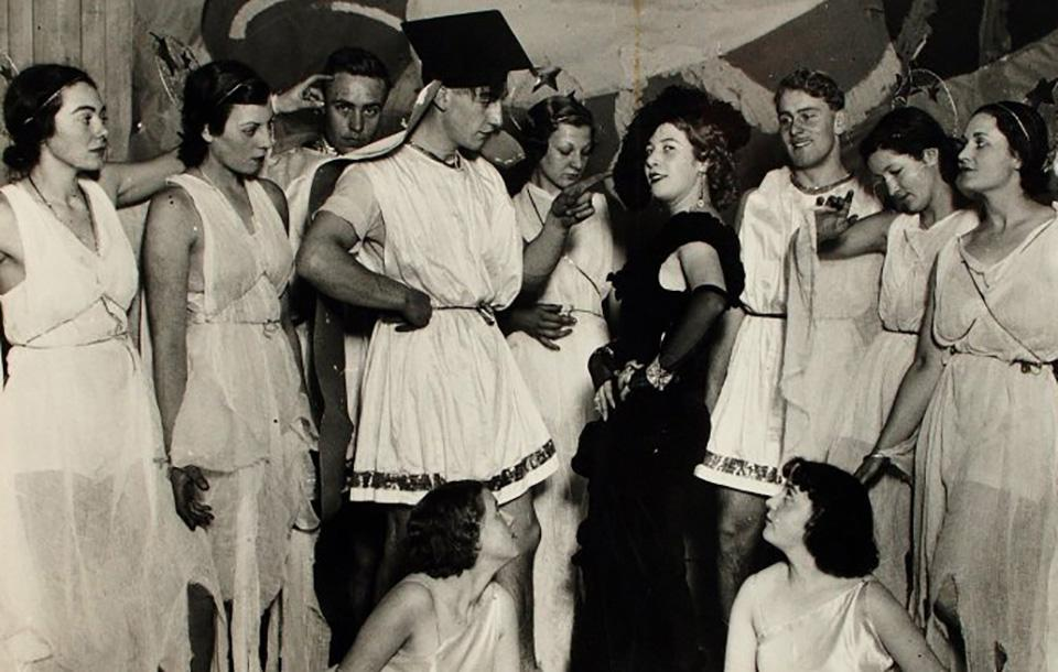 Photo of a party at E C A in the 1930s