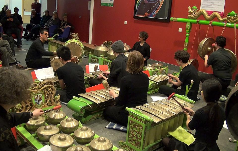 Photo of a percussion concert