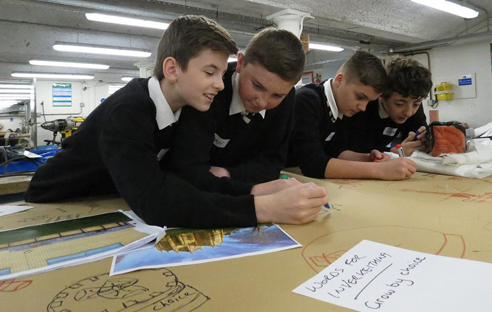 Photo of students taking part in a workshop