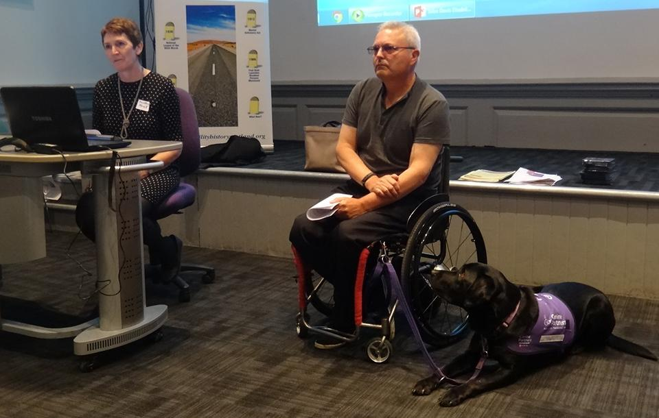 Photo of the launch of the Disability Research Edinburgh website