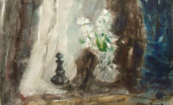 White Hyacinths © Anne Redpath's Estate. All Rights Reserved 2013/ Bridgeman Art Library. University of Edinburgh Art Collection.