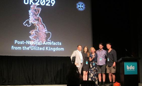 The UK 2029 team collecting their award