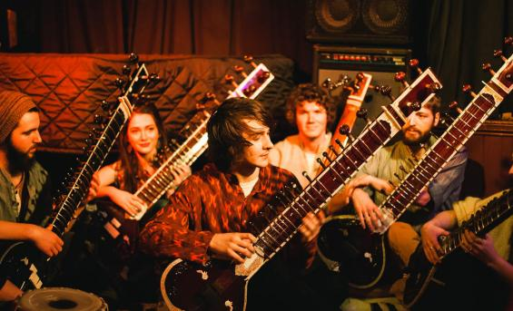 Student sitar group