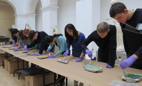 The restoration of Sir Eduardo Paolozzi's Tottenham Court Road mosaics by students on the Edinburgh Collections course