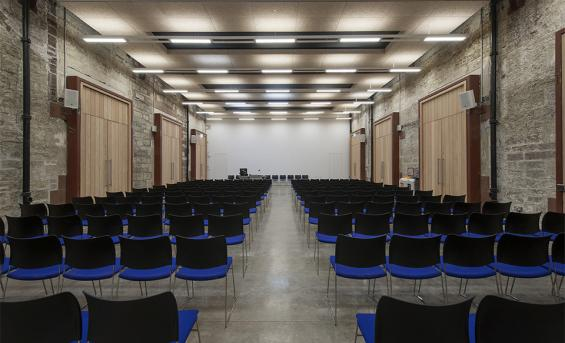 The West Court can be used as a lecture theatre or as an events venue