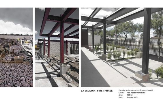 Image courtesy of Ernesto Maldonado Planning and construction plan for La Esquina - First Phase