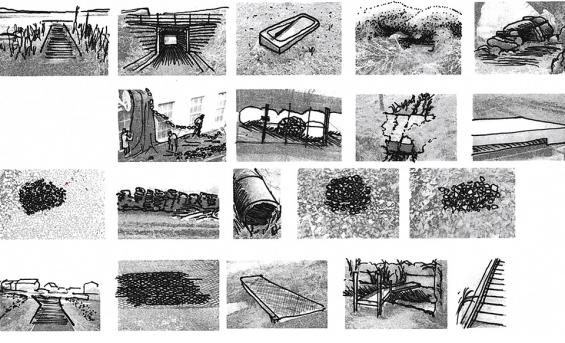 'Garnock Valley' drawings by ESALA Award winner Athena Preen