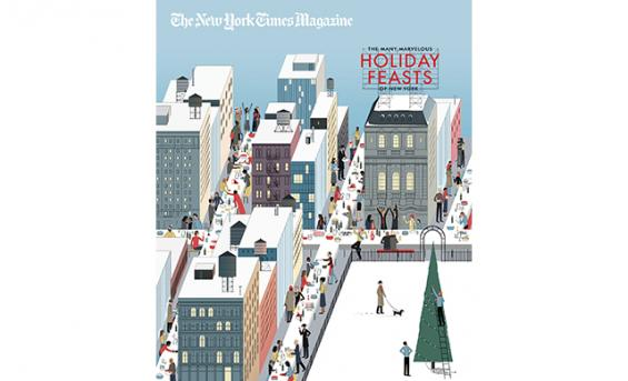 Cover of The New York Times magazine, holiday special