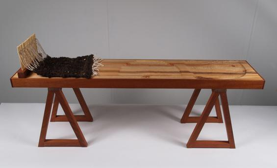 Photo of a bench crafted by Martin Campbell